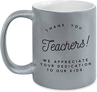For Hard Working Teacher Metallic Mug : Best Birthday, Teacher's day, Holiday or Thank You Gift for your Respected Teacher Loveable Design Metallic 11 oz By Anna Gold Memory