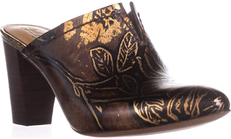 Patricia Nash Ruffina Mule Pumps, Chocolate gold