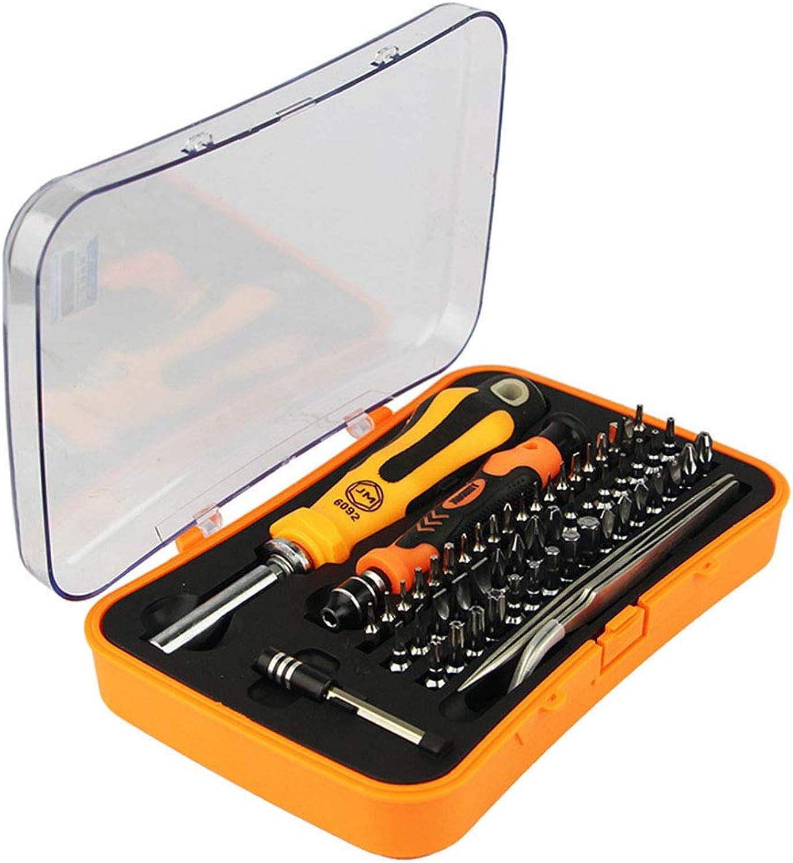 QAQ Multifunktionaler Schraubendreher Chrom-Vanadium-legierungsstahl 58 In 1 1 1 Set Tragbar Präzisionsinstrument,Orange,195  125  44mm B07L9WRBMB   Starke Hitze- und Hitzebeständigkeit  33f153