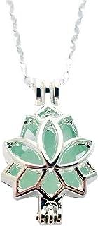 """Hecho a mano de Hawaii,""""joyería de la yoga"""" medallón de Lotus con una pieza de collar de vidrio de mar natural, hawaiano r..."""