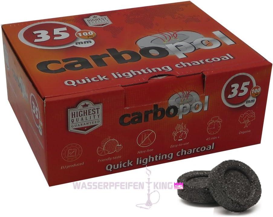 Carbopol Auto encendido Shisha Carbones – 35 mm en caja