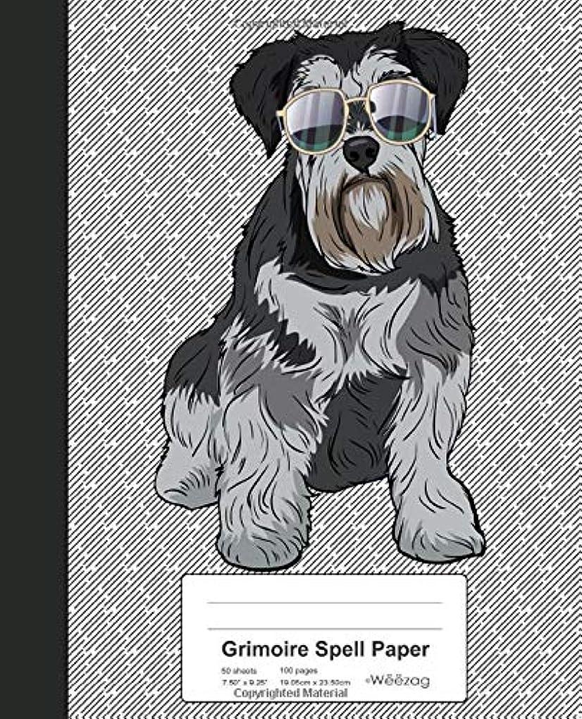 口頭売り手取り付けGrimoire Spell Paper: Book Miniature Schnauzer Dog (Weezag Grimoire Spell Paper Notebook)