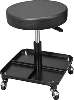 Torin ATR6350B Rolling Pneumatic Creeper Garage/Shop Seat: Padded Adjustable Mechanic Stool with...