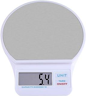 Báscula Digital, Balanza Digital de Cocina, Digital Kitchen Food Scale USB Báscula electrónica de peso preciso con pantalla LCD y precisión de precisión hasta 5000 g