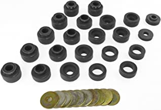 Prothane 1-105-BL Black Body Mount Bushing Kit for CJ5, CJ7, CJ8, YJ and TJ - 22 Piece