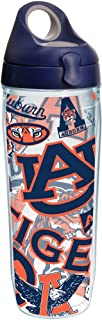 Tervis 1252333 NCAA Auburn Tigers All Over Water Bottle with Lid,  24 oz,  Clear
