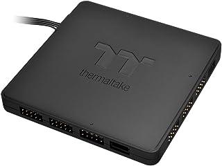 Thermaltake TT Sync Edición - Concentrador LED de 9 Puertos, Color Negro