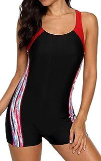 ملابس سباحة للنساء من belamo بظهر على شكل حرف T من قطعة واحدة ملابس السباحة الرياضية Pro Boyleg