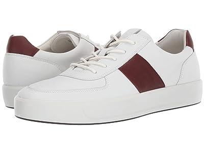 ECCO Soft 8 Classic Sneaker (White/Rust) Men