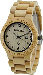 Yiwa Male Ultrathin Wooden Watch Stylish Quartz Wrist Watch Ornament Valentine's Day Gift (with Gift Box)