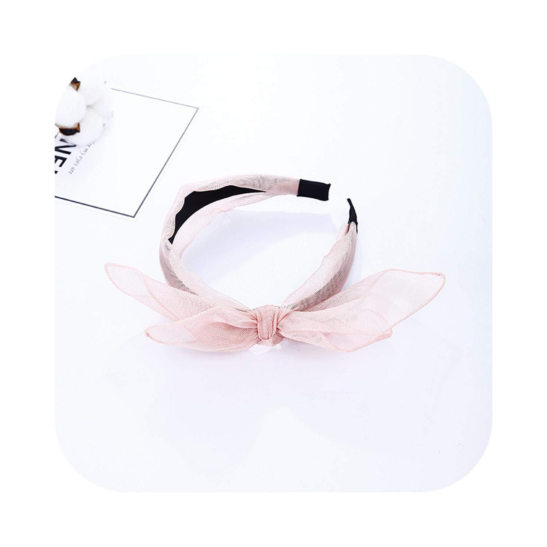 Shop 1994 New Lace Western Style Bunny Ears Bow Polka Dot Hairbands Dot Bezel Turban For Women Headbands Girls Accessories Headwear-A-