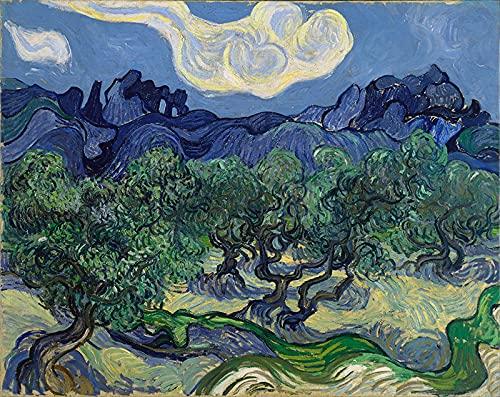 PLKIJ Puzzle Personalizzabili da 1000 pezzi Vincent Van Gogh-ulivi-Gioco di puzzle per adulti e adolescenti Giocattoli Regalo Decorazione per la casa Giocattoli fai da te per 75x50 cm