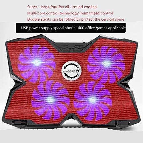 Laptop Cooling Pad Ultra-Quiet Notebook Cooler Stand mit 4 High-Speed-Fans und Doppel-USB-Schnittstelle Kompatibel mit Laptops unter 17