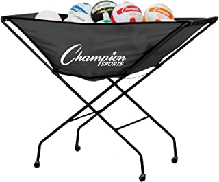 Champion Sports Collapsible Volleyball Storage Cart (Renewed)