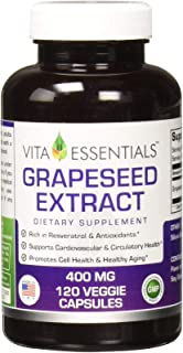 Vita Essentials Grapeseed Extract 400 Mg Capsules, 120 Count