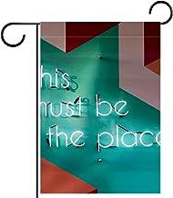 """Huis Tuin Vlag DubbelzijdigLente Zomer Yard Outdoor Decoratie 28x40"""", dit moet de plaats zijn"""