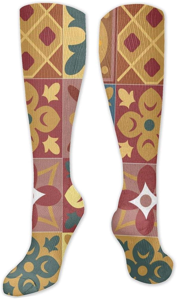 Floral Art Knee High Socks Leg Warmer Dresses Long Boot Stockings For Womens Cosplay Daily Wear