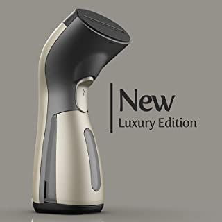 iSteam Luxury Edition Steamer Technology [New] 8-in-1 Powerful: Clothes Wrinkle Remover- Clean- Sterilize- Refresh- Treat- Defrost. for Garment/Home/Kitchen/Bathroom/Face/Travel [MS208 Gold]