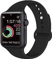 AK Compatible Apple Watch Bracelet 42mm 38mm 44mm 40mm, Bracelet de Sport en Silicone Remplacement Compatible la série...