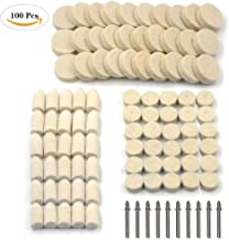 100Pcs Wool Felt Polishing Pad & Polishing Wheel, Kicpot Point & Mandrel Kit for Dremel Rotary Tools (100Pcs)