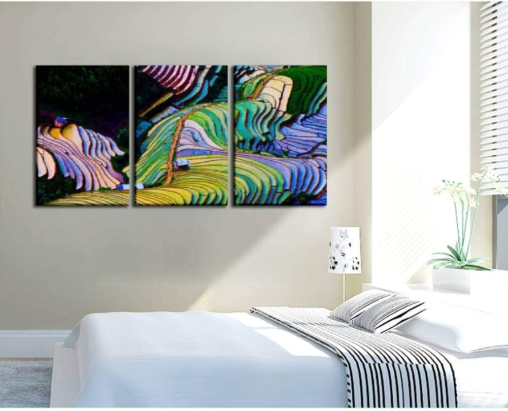 Bedroom Hotel Decoration Gift Salizen Asian Buffalo Eat Grass On The Field Thailand 3 Pieces Wall Art Paintings Perfect Canvas Art Vivid Color Modern Style Home Living Room Home Artwork Topexcursionstenerife Com