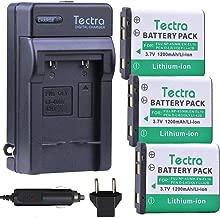 Tectra 3-Pack EN-EL10 Battery + Charger Kit for Li-40B/Li-42B/Fuji NP-45/NP-45A/Nikon EN-EL10/Pentax D-Li63/D-Li108 Battery Nikon Coolpix S4000 s210 s205 s230 s570 Fuji Finepix XP90 SLR Camera