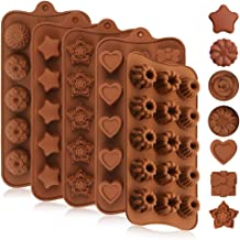 Chocolate Molds, Pack of 5 Chocolate Silicone Mold Silicone Candy Baking Mold Candy Making Supplies for Chocolates Hard Ca...