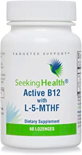 Seeking Health Active B12 with L-5-MTHF, 60 Lozenges, Vitamin B12 Supplement, Supports Cellular Health, Cognitive Health, ...