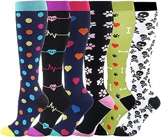 Compression Socks for Women & Men - Knee High Socks for Running, Flight, Travel, Nurses, Pregnancy, Edema