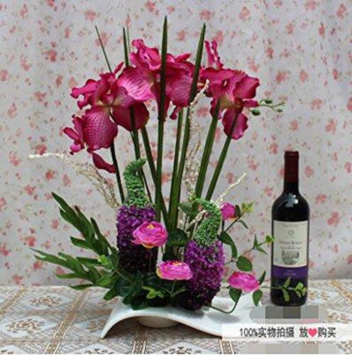Phalaenopsis Artes, flores secas en macetas juego de simulaci¨®n, de seda flores artificiales, sala de estar, mesa de comedor colocaron arreglos florales