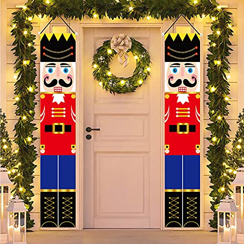 "Nutcracker Christmas Decorations - Outdoor Xmas Decor - 72""Life-Size..."