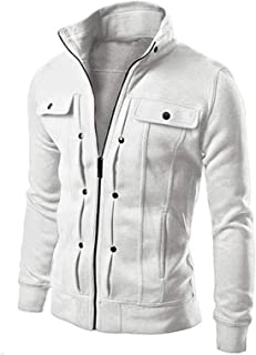 LGLSG Cappotto per tasti da uomo, felpa per abbigliamento sportivo moda maschile Giacca in cotone con cerniera piena con c...
