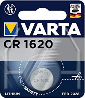 VARTA Batterien Electronics CR1620 Lithium Knopfzelle 1er Pack Knopfzellen in Original 1er Blisterverpackung