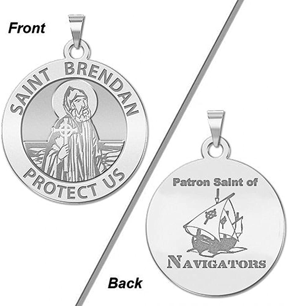 PicturesOnGold.com Saint Brendan Double Navigator Round Re Translated Sided 2021 spring and summer new
