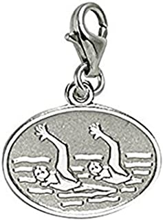 Synchronized Swimming Charm With Lobster Claw Clasp, Charms for Bracelets and Necklaces