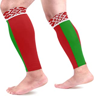 Abbylife Nation Country Flag 1 Pair Leg Brace Compression Long Cooling Sports Leg Sleeve