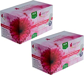 everteen® 100% Natural Cotton Daily Panty Liners (2x30pcs) Pantyliner (Pack of 2)
