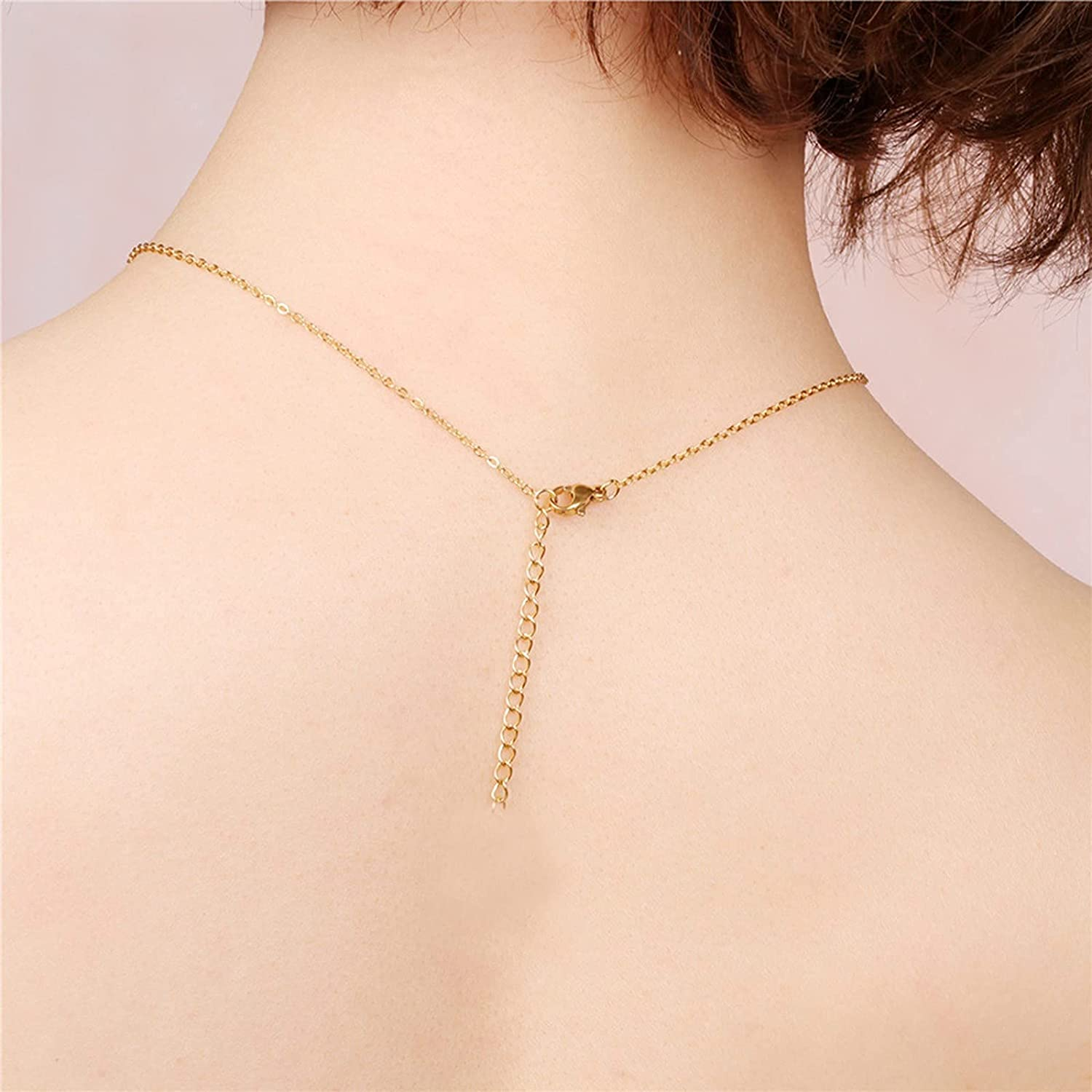 ZSWWang Initial Letters Heart Necklace for Women and Teen Girls, Necklaces with Cute Alphabets Pendant, Adjustable Lenght A-Z Alphabet Necklaces Jewelry Chain Choker Gift for Christmas/Birthday (K)