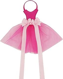 Hixixi Kids Baby Girls Sweet Veil Dress Hair Bow Hanger Hair Clip Holder Storage Organizer with 2 Ribbons