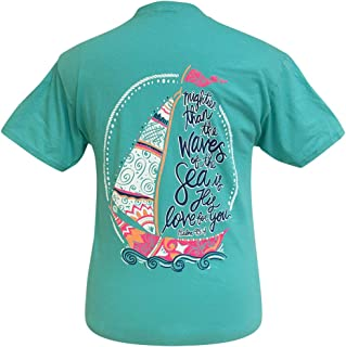 Girlie Girl Psalm 93:4 Love for You Southern Short Sleeve T-Shirt Youth