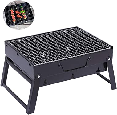 sleeping bag BBQ Charcoal Grill, Folding Portable Lightweight Barbecue Grill Tools for Outdoor Grilling Cooking Camping Hikin
