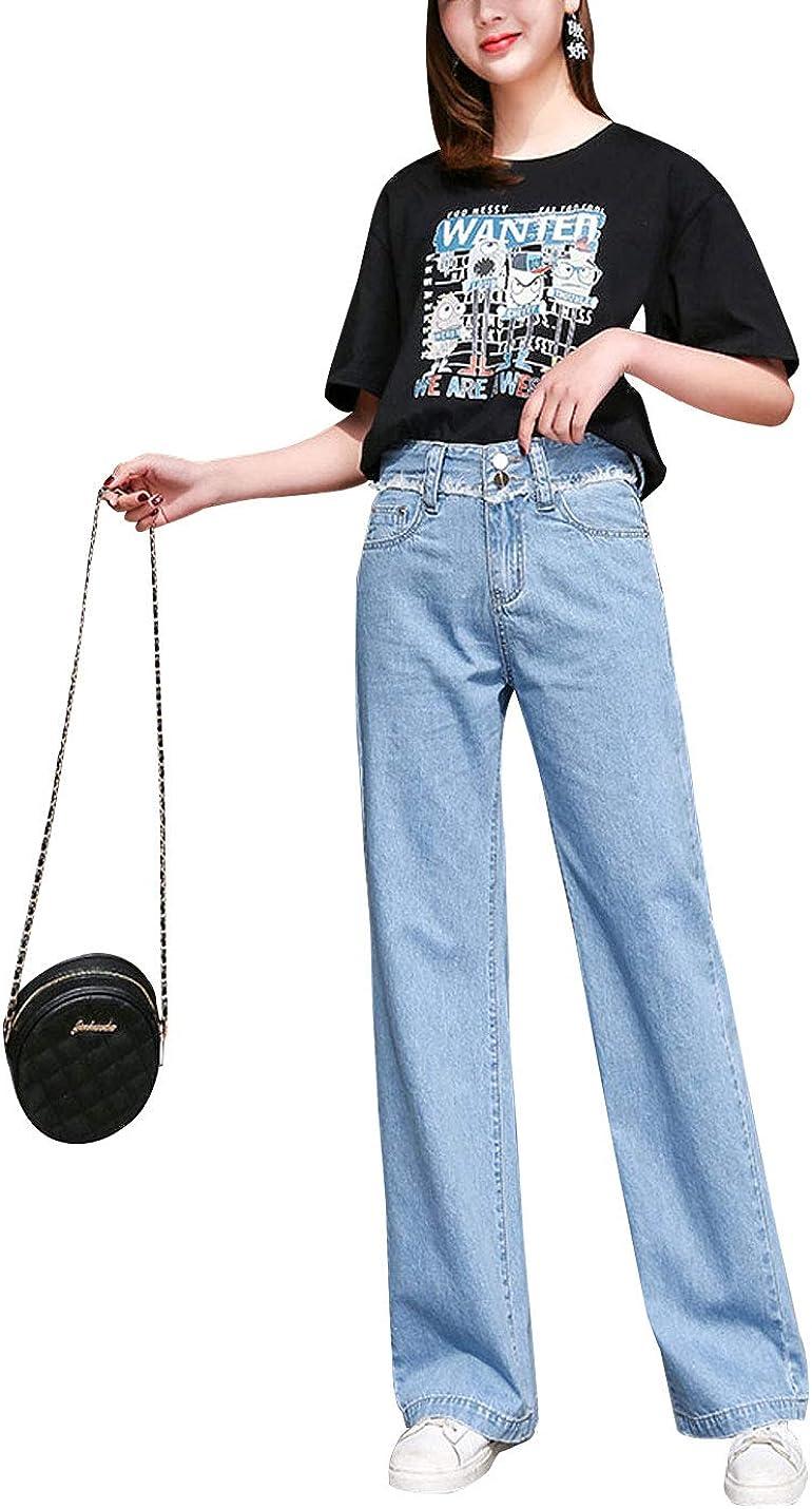 Hongsui D.B.M Ladies wholesale Loose Casual Stretch Je Straight Long Beach Mall Waist high
