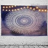 GeeRic Arazzo Mandala, Tappezzeria in Stile Psichedelico Tapestry Mandala Stampa Vintage D...