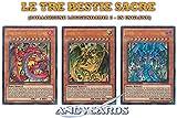 Yu-Gi-Oh! Set Completo Le Tre Bestie Sacre Collezione Leggendaria 2 in Inglese Raviel, Signore dei Fantasmi, Uria, Signore delle Fiamme Ardenti, Hamon, Signore del Tuono Fragoroso