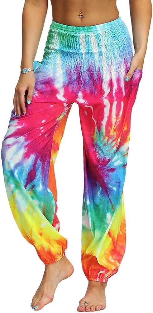 Xixiuly Women's Hippie Cheap SALE Start Harem Yoga Waist High Sale price Pants Pockets with