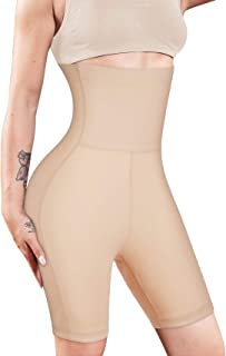 Nebility Women Waist Trainer Shapewear High Waist Tummy Control Butt Lifter Panty Thigh Slimmer