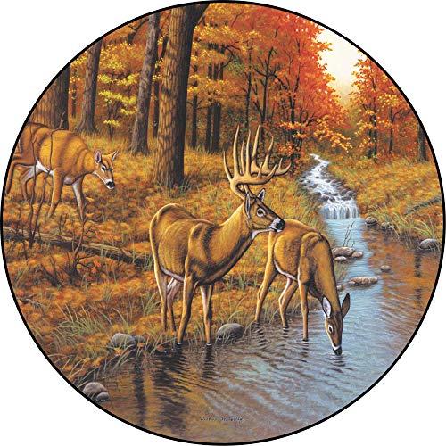 Beth-D Deer Symonds Creek Herbst Herbst Forest Reserveradabdeckungsgrößen für jedes Modell 14-17inch
