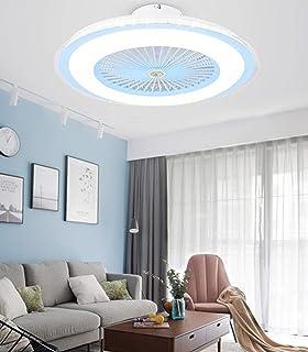 Ventilador de techo inteligente de 60 cm con luz control remoto decoración del dormitorio mudo redondo 220V-F