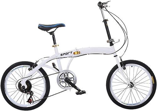orden ahora disfrutar de gran descuento HYRL Bicicletas Plegables De De De 20 Pulgadas, Mini Aleación Liviana, Velocidades Variables, Bicicletas De Montaña - para Adultos Estudiantes  moda