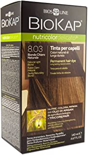 Biokap Permanent Hair Dye, Light Blonde 8.03, 4.67 Ounce